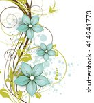 abstract floral background.... | Shutterstock .eps vector #414941773