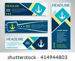 anchor icon on horizontal and... | Shutterstock .eps vector #414944803