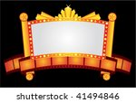 big gold cinema neon with film... | Shutterstock .eps vector #41494846