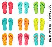 set of vector colorful flip... | Shutterstock .eps vector #414953980