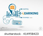 word cloud e learning and... | Shutterstock .eps vector #414958423