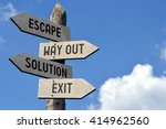 escape  way out  solution  exit ... | Shutterstock . vector #414962560