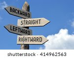 backward  straight  leftward ... | Shutterstock . vector #414962563