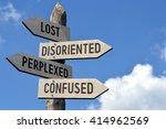 lost  disoriented  perplexed ... | Shutterstock . vector #414962569