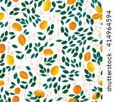 citrus seamless pattern. | Shutterstock . vector #414964594