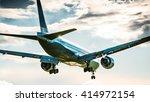 plane landing | Shutterstock . vector #414972154