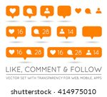 vector like  follower  comment... | Shutterstock .eps vector #414975010