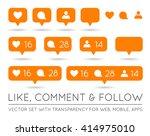 vector like  follower  comment...   Shutterstock .eps vector #414975010