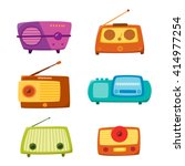 vintage radio isolated on white ... | Shutterstock .eps vector #414977254