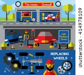 auto centers and carwash... | Shutterstock .eps vector #414978109