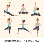 female yoga. vector... | Shutterstock .eps vector #414978769
