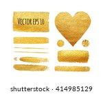 vector set of shining brush... | Shutterstock .eps vector #414985129