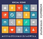 social icon set. multicolored...