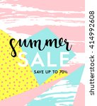 template for summer sale flyer... | Shutterstock .eps vector #414992608