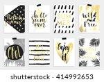 summer hand drawn calligraphyc...   Shutterstock .eps vector #414992653