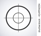 target  icon isolated on a gray ... | Shutterstock .eps vector #414994354