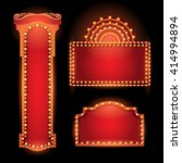 brightly theater glowing retro... | Shutterstock .eps vector #414994894