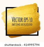 vector gold brush stroke over... | Shutterstock .eps vector #414995794