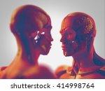 facing human anatomy models ... | Shutterstock . vector #414998764