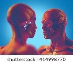 facing human anatomy models ... | Shutterstock . vector #414998770