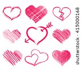 red heart collection icon ... | Shutterstock . vector #415000168