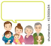 cute family and message space | Shutterstock . vector #415000654