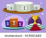 cartoon winners podium. vector...   Shutterstock .eps vector #415001683