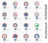 light bulb idea icons set.... | Shutterstock .eps vector #415004668
