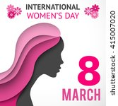 happy women's day greeting or... | Shutterstock . vector #415007020