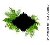 tropical jungle palm tree... | Shutterstock .eps vector #415008880