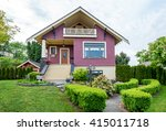 cozy house with a beautiful... | Shutterstock . vector #415011718