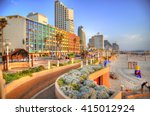 Colorful Hdr Image Of Tel Aviv...
