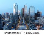 skyscrapers in downtown toronto ... | Shutterstock . vector #415023808