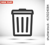 trash . line vector icon | Shutterstock .eps vector #415024084