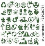 eco friendly bio green energy... | Shutterstock .eps vector #415026754