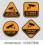 set of closed circuit... | Shutterstock .eps vector #415027840