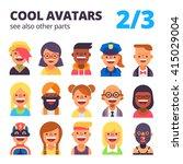 set of cool avatars. different... | Shutterstock .eps vector #415029004