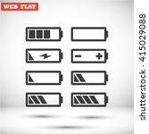 battery icons set vector 10 eps | Shutterstock .eps vector #415029088