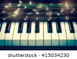 Closeup Keyboard Of Piano With...