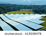 solar power panels on a green... | Shutterstock . vector #415038478