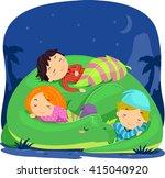 stickman illustration of kids... | Shutterstock .eps vector #415040920