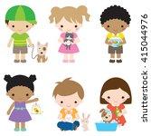 vector illustration of children ... | Shutterstock .eps vector #415044976