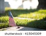 military cemetery  | Shutterstock . vector #415045309