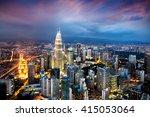 kuala lumpur skyline at dusk | Shutterstock . vector #415053064