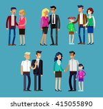 detailed character people... | Shutterstock .eps vector #415055890