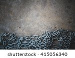 Chain On Concrete Floor...