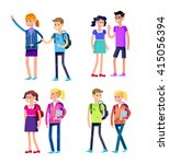 vector detailed character flat...   Shutterstock .eps vector #415056394
