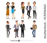 vector detailed characters... | Shutterstock .eps vector #415056463