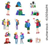 illustration of kids summer... | Shutterstock .eps vector #415056694