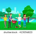 vector character people on... | Shutterstock .eps vector #415056823